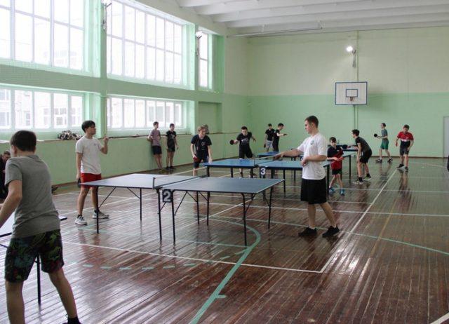 Первенство города по настольному теннису